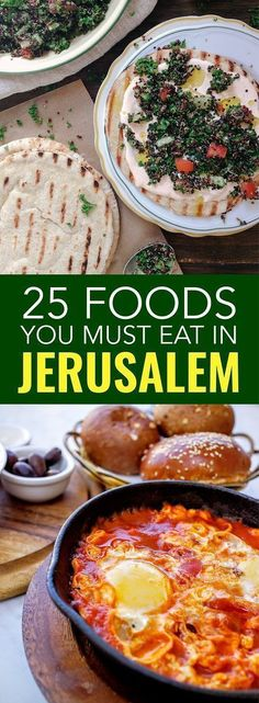 Jerusalem food is one of the best parts of visiting the city including Mahane Yehuda - famous market in Jerusalem.