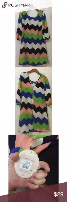 Chevron Dress Pictures do no justice || Beautiful chevron dress || Entourage boutique || NWT Entourage Clothing Dresses Long Sleeve