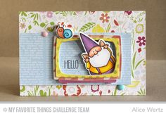 You Gnome Me, Television Die-namics, You Gnome Me Die-namics - Alice Wertz  #mftstamps