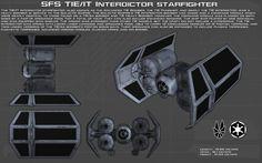 TIE/IT Interdictor starfighter ortho [New] by unusualsuspex on DeviantArt