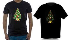 Buy: LED Light-Up Christmas Tree T-Shirt for just: £11.99 Festive and funLED Light-Up Christmas Tree T-Shirt      T-shirt features a twinkling Christmas tree      Comes with a sound activated LED panel      Choose from sizes S, M, L and XL (see Full Details for size guide)      Perfect to wear over the festive season at parties and even on the big day      Made from 100% cotton      Great...