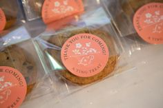 Homemade cookies as wedding favors with packaging $20