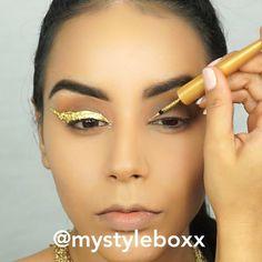 Diy gold leaf eyeliner
