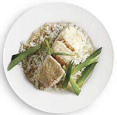 Steamed Black Cod with Scallions and Rice Wine - Recipe - FineCooking Surimi Recipes, Endive Recipes, Gnocchi Recipes, Tostadas, Coffe Recipes, Crohns Recipes, Jucing Recipes, Achiote