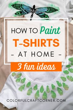 Are you looking for cool and easy DIY T-shirt painting ideas? Do you get bored of the simple, basic, one-color Tees? With these three simple methods, you can easily paint your Tees at home! Also, with my tips, hacks and best practices you can enjoy your amazing DIY clothes for years. #DIYTshirt #paintedTshirt #Tee #stencil #tshirtpaintingideas T Shirt Painting, Diy Painting, Clothes Refashion, Diy Clothes, T Shirt Diy, Tee Shirts, Tees, Painted Clothes, Art Crafts
