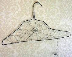 hanger spiderweb wire sculpture