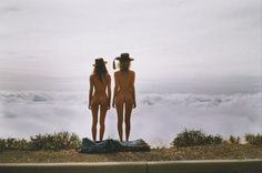 two girls above sky