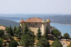 Aiguines, France and Lake St. Croix. Provence-Alpes-Côte d'Azur