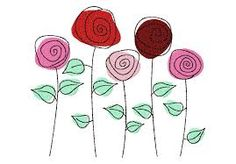 Image result for roses machine embroidery