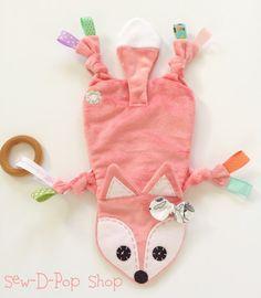 Mini Fox Baby Nursery Blanket Lovey Teething Toy Clip Friend