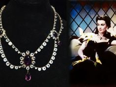 """Diamond and Amethyst necklace worn by Vivien Leigh in """"Gone with the Wind"""""""