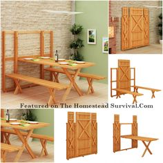 The Homestead Survival | Fold Up Picnic Table | http://thehomesteadsurvival.com - Homesteading DIY Project