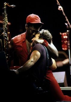 Friendship, Bruce Springsteen, Clarence Clemons...just not the same without the big man <3