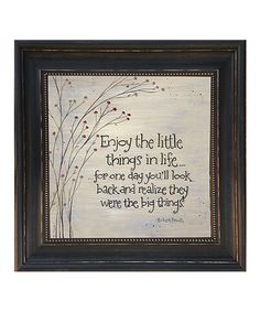Another great find on #zulily! 'Little Things' Framed Wall Art by Karen's Art & Frame #zulilyfinds