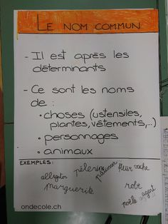 ondecole.ch - La nature des mots Bullet Journal, Teaching, Personalized Items, Group Work, Spelling, Teaching Manners, Learning