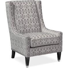 Value City Furniture Venn Accent Chair Living Room Seating, Living Room Chairs, Living Room Furniture, Dining Rooms, Furniture Upholstery, Upholstered Chairs, Living Room Trends, My Living Room, Living Room Decor