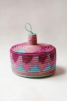 Hand Woven Marrakech Basket - Magenta from Zeal Living