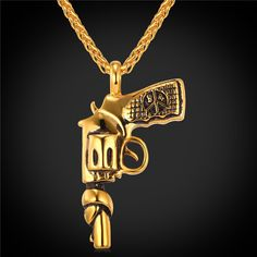 U7 American Style Hip Hop Chain Men Women Necklace 18K Gold Plated Vintage Roscoe Necklace