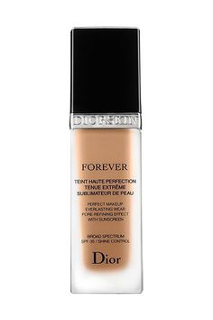 This oil-free foundation from Dior provides long-lasting coverage with an SPF of 30 (and it doesn't have that sun-protection smell or heavy feel). Plus it's lightweight, yet leaves skin looking flawless.Dior Diorskin Forever Perfect Makeup Broad Spectrum 35, $50, available at Sephora. #refinery29 http://www.refinery29.com/best-foundation#slide-2