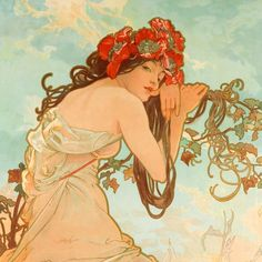 Alphonse Mucha - An exhibition devoted to the art nouveau painter and illustrator Alphonse Mucha. Mucha Art Nouveau, Alphonse Mucha Art, Art Nouveau Poster, Illustrator, French Art Deco, Prague, Love Art, Vintage Art, Drawings