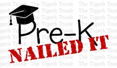 Pre-K (or other grade!): Nailed It! Iron it on your favorite shirt or bring it somewhere local to have it heat pressed on.  The Tigers Trunk is not responsible for mishaps during the transfer process! If youre unfamiliar with ironing on a vinyl decal, we suggest you take it to a local company who can use a heat press and do it for you.  For best results, wash inside out on gentle and hang to dry.  The colors provided are red, black, and white, as seen in the pictured shirt.  *Coupon codes…