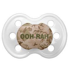 Desert Sand OOH-RAH Camouflage Infant Pacifier