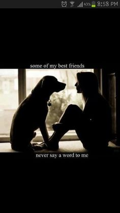 Its so true see i have four dogs two hamsters and a horse and they r my best friends