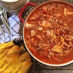 This Cabbage Roll Soup is a hearty, healthy and delicious dinner...and it tastes just like cabbage rolls! Ready in 1 hour!