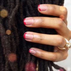 L'Oreal Mauvelous & Essie Óle caliente #nailpolish #nails #frenchmanicure