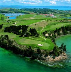 Aerial view Gulf Harbour Country Club, Auckland