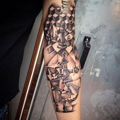 Reinkarnation Tattoos & Piercing by Claudia Linde #Tattoos #Graphic #Chess…