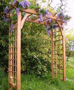 арка садовая деревянная