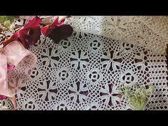 Flor para camino,centro de mesa,mantel ó colcha - YouTube