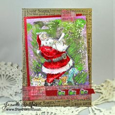 OOOOOOOOOOOOOOO! Rain Puddles Design: Art Anthology, Stampendous and Santa @stampendous  @artanthology