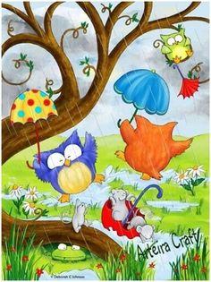 Los búhos al son de la lluvia