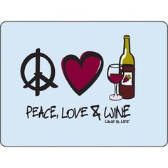 Peace Love & Wine Beverage Coasters by Wine is Life, Set of 12 Wine Meme, Wine Funnies, Traveling Vineyard, Wine Searcher, Wine Signs, Wine Guide, Wine Wednesday, Wine Art, Wine Quotes