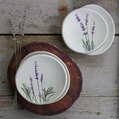 lavender ceramic plates