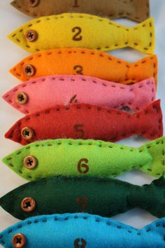 felt counting fish educational toy with cotton bag by HoneyCanada, $48.00