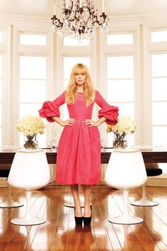 Rachel Zoe pink dress, Rachel Zoe fashion, Rachel Zoe Living in Style Rachel Zoe, Pink Dress, Dress Up, Look Chic, Celebrity Style, Celebrity Houses, Celebrity Outfits, Beautiful People, Celebs