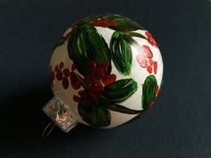 Glass Ornament  Christmas Design II by KatherineLorraineArt