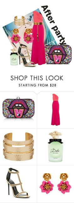 """""""After Party"""" by krissel1 ❤ liked on Polyvore featuring Rupaul, From St Xavier, Badgley Mischka, Gucci, Dolce&Gabbana, Tom Ford, Oscar de la Renta and LE VIAN"""