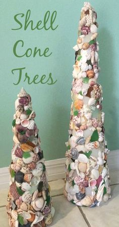 Beautiful DIY Cone Seashell Christmas Trees: http://www.completely-coastal.com/2013/11/seashell-trees-Christmas.html