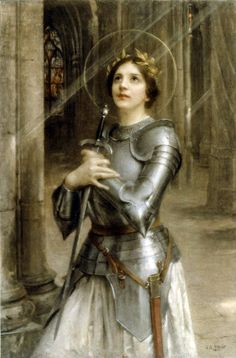 Joan of Arc Jeanne d'Arc By Charles-Amable Lenoir Joan of Arc or Jeanne d'Arc in french, was born in 1412 to Jacques d'Arc and Isabelle Romée, a peasant family, at Domrémy in north-east. Joan D Arc, Saint Joan Of Arc, St Joan, Jeanne D'arc, Sanya, Joan Of Arc Costume, Reims Cathedral, Lenoir, St John Bosco
