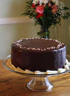 Jane's Sweets & Baking Journal: Chocolate Fudge Layer Cake with Vanilla Buttercream and Bittersweet Chocolate Ganache . . .