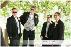 black silver and purple groomsmen