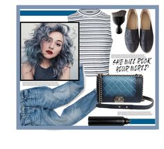 """Only You"" by mycherryblossom ❤ liked on Polyvore featuring Ally Fashion, Chanel, Sephora Collection, Oribe, comfort, denim, stripes and casualoutfit"
