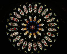 York Minster stained glass Rose  Window - medieval stained glass. The circular window occupied an important place, especially in the Gothic churches of France, Spain, and Italy. Read more at Buzzle: http://www.buzzle.com/articles/style-and-characteristics-of-gothic-architecture.html