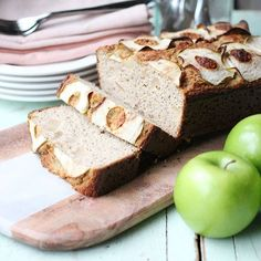 Happy Friday! I am SO looking forward to the weekend! l love weekend baking and this apple bread is just the thing...so delicious and very easy to make, it is dense but moist and has a beautiful sweetness soley from apples.  If you can stew your own apples it adds to the flavor, but store bought (apples only, no added nasties) applesauce will work no problem if you'd like!  We've been enjoying it with cashew butter and some homemade Strawberry Lime Chia Jam.  You can catch a glimpse of it…