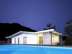 Evoluthion modern green building - night view