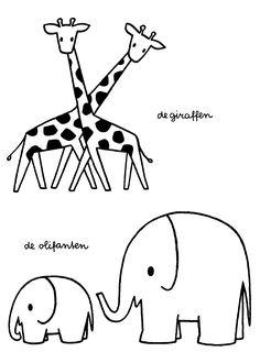De giraffen. De olifanten.